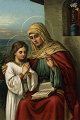 Saint Ann with her daughter Mary, The Blessed Virgin Mother.